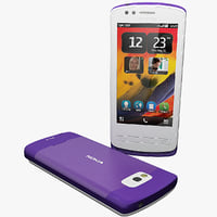 3d model of nokia 700 zeta purple