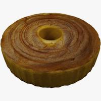 3d model sponge cake
