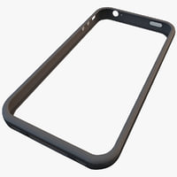 black iphone 4 bumper 3d model