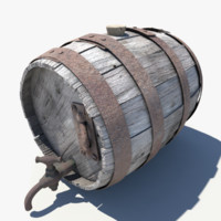 keg barrel wood fbx