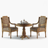 set chairs 3d ma