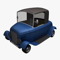 maya hot rod toon car