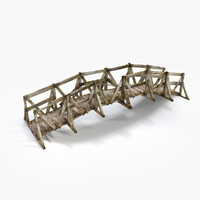 3d bridge wood model