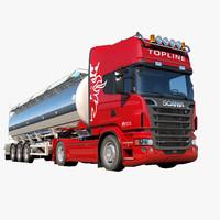 3d scania r 730 tanker model
