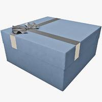 gift box 3d c4d