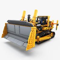 3d lego bulldozer