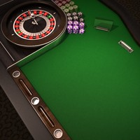 roulette table casino online 3d model