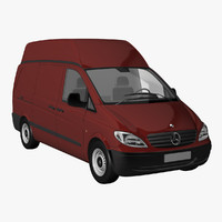 vito panel van roof 3d model
