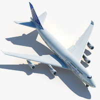 3d boeing 747 continental