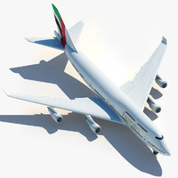 3d boeing 747 emirates model