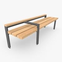 street bench furniture 3d model