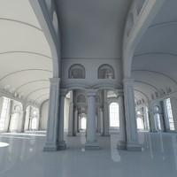 classic interior scene 3d 3ds