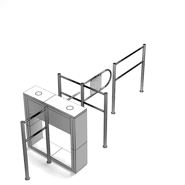 perco entrance control 3d obj - PERCo Entrance Control System... by shop3ds