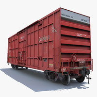 railway cargo car train 3d model