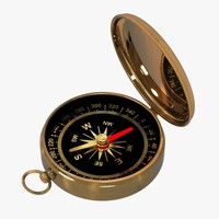 3d model golden compass