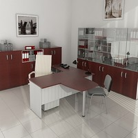 3d office design furniture model