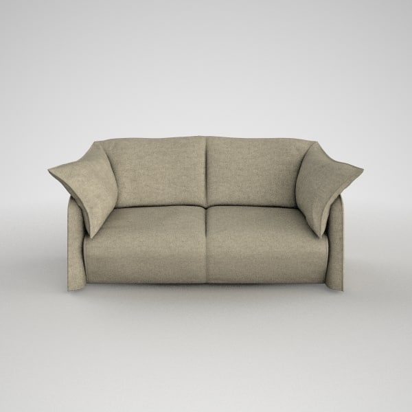 Cassina 380 La Mise Sofa 2 Seats