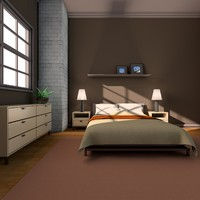 cinema4d bedroom interior