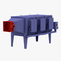 industrial waste gas disposal 3d model