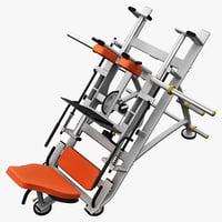 leg press machine 3d max