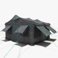 3d model military tent 2