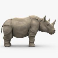 rhino rhinoceros c4d