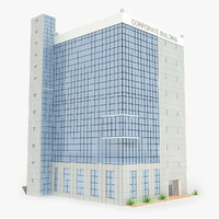 corporate industrial building 3d model