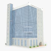 corporate industrial building 3d model