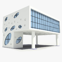 3ds max corporate glass building