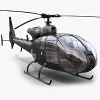 SA Gazelle Black Helicopter