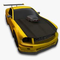 mustang stallion 3d model