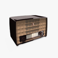 3d antique philips bakelite radio model