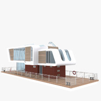 3d boat house model