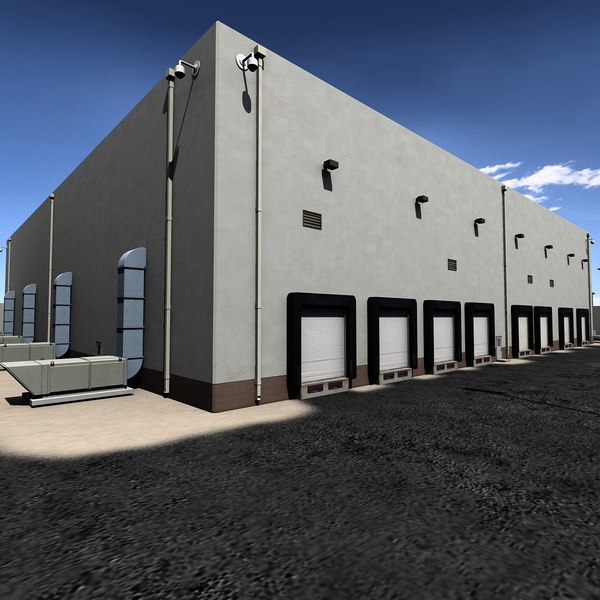 3d industrial warehouse park plant model for Skydome light fixture