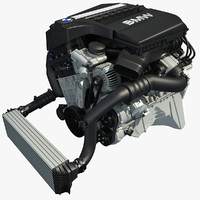3dsmax bmw twinpower turbo petrol engine