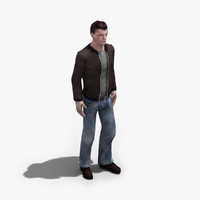 male civilian rigged 3d model
