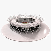 3d model olympic stadium london