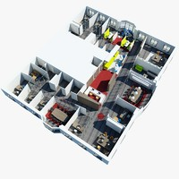 3d office interior 2