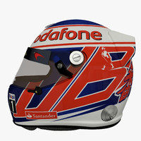 jenson button f1 helmet 3d max