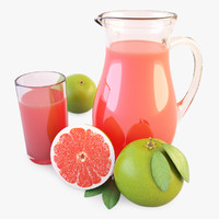 Jug And Glass Of Juice Green