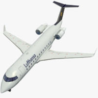3d model jet airplane lufthansa