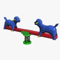 toy-playground-park- seesaw- 3d max