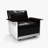 3d model dieter 620 armchair