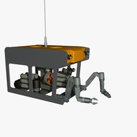 3d model rov vehicle work class