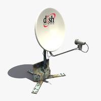 dish antenna 3d max