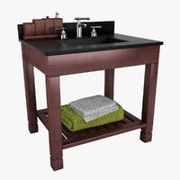 3d model vanity bath sink