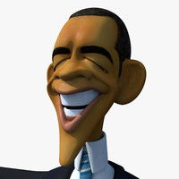 Barack Obama Caricature Model