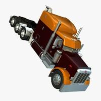 3d 367 truck knuckleboom crane