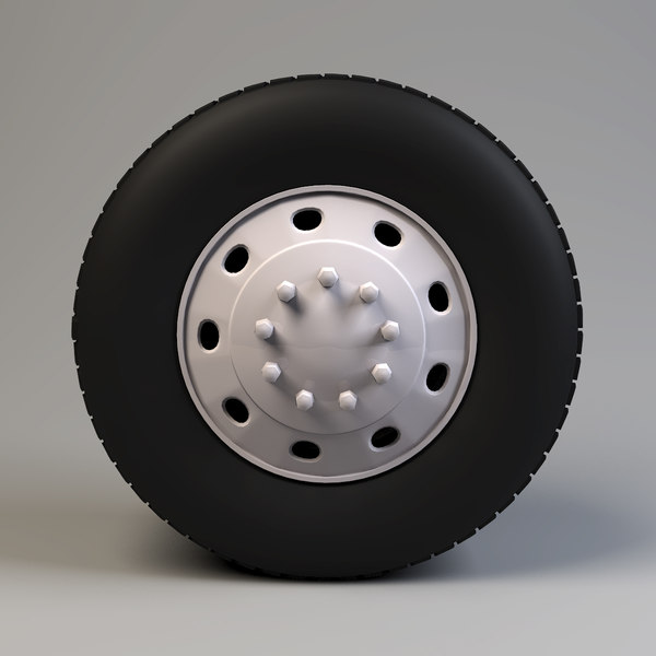 truck wheel 3d max - Truck Wheel... by vankata