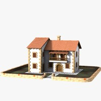 3d authentic house cottage